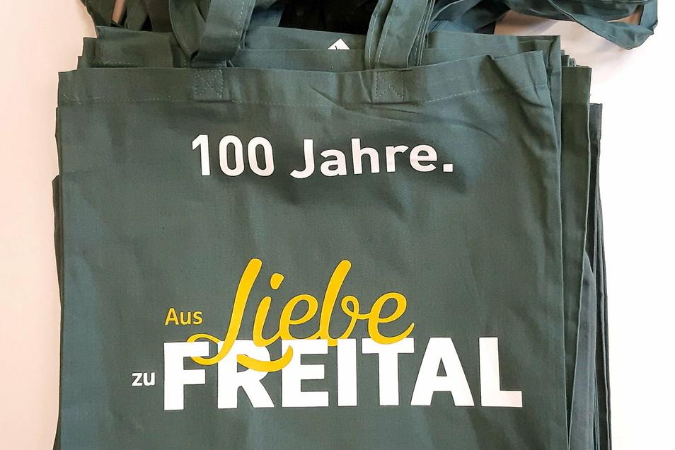 Mit dieser Tragetasche kann man sich jetzt beim Einkaufen zu Freital bekennen.