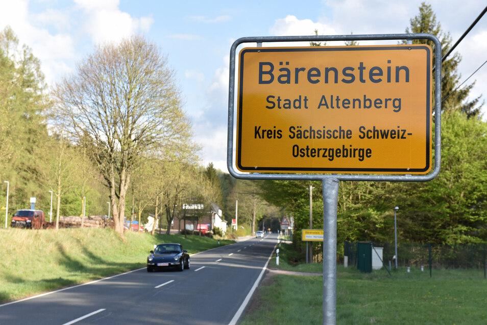 Bisher stand hier auf der Müglitztalstraße durch Bärenstein nur ein Schild mit Tempolimit 70. Jetzt gilt hier Tempo 50 mit den neuen Ortsschildern.