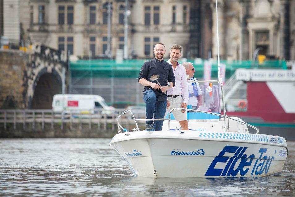 Die Suche nach besserem Fahrwasser beschäftigt auch die Gastronomie: Kochsternstunden-Sieger Christian Weidt mit Clemens Lutz, dem Initiator des Wettbewerbs.