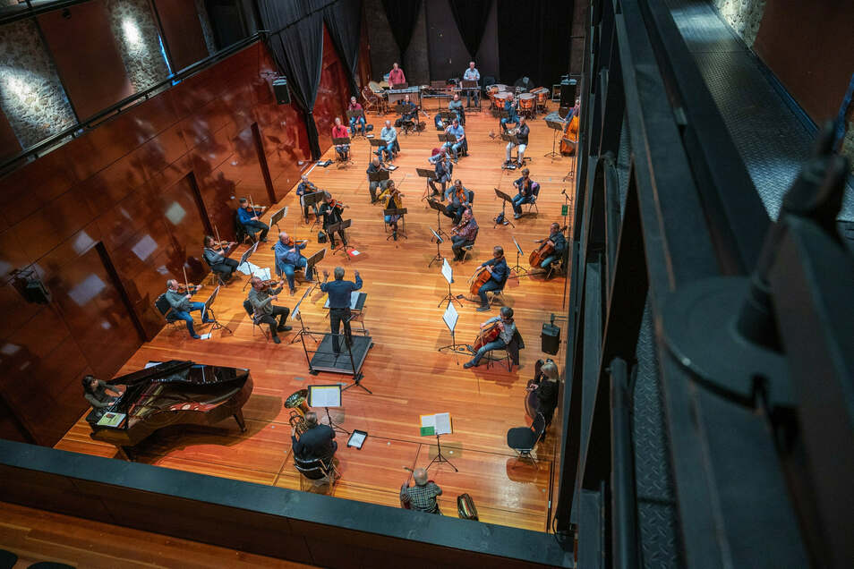 Die Elblandphilharmonie probte drei Tage lang im Großenhainer Kulturschloss.