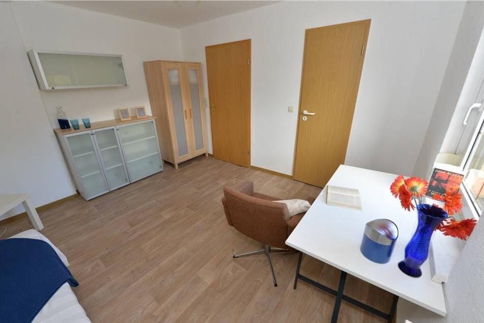 So sind die Zimmer für die Bewohner der Wohngemeinschaft jetzt eingerichtet.