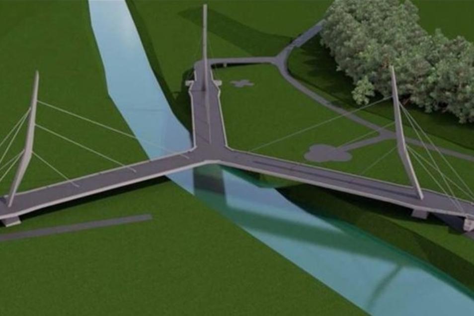 So soll die Dreiländer-Brücke eines Tages aussehen.