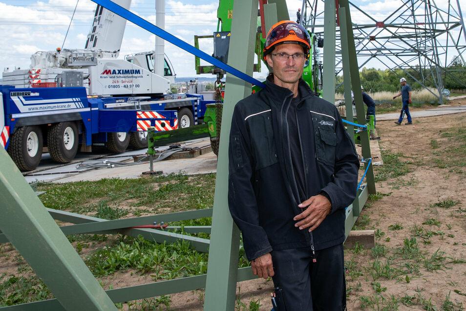 """""""Es gibt immer genug Brot."""" Der Energie-Elektroniker Torsten Wollrab koordiniert und kontrolliert für den Netzbetreiber 50hertz das Baugeschehen."""