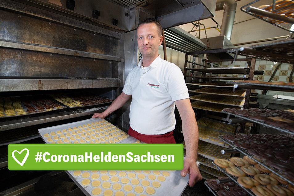 """""""Wir stehen in der Krise an vorderster Front"""", sagt Thomas Höring, der Chef der Stadtbäckerei Höring in Dresden."""