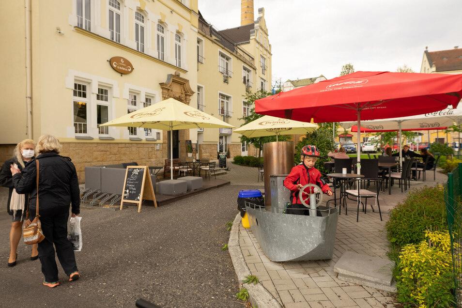 Bisher ist auf Caféterrassen und Biergärten wenig los.
