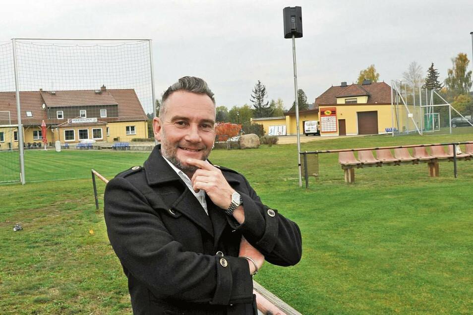 Mathias Lampe (44), Bürgermeisterkandidat mit Mandat der AfD in Schleife, stellt sich am 1. November 2020 zur Wahl. Der selbstständige Bauunternehmer sitzt seit 2019 im Gemeinderat.