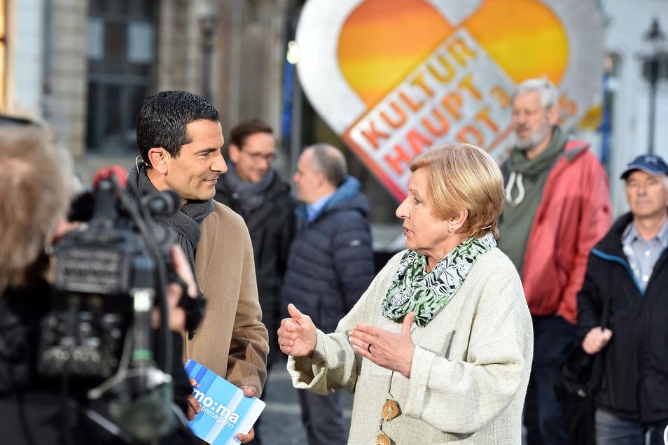 Souverän: Die frühere Lehrerin und Schulleiterin Brigitte Kluttig freut sich über das heute so normale Leben an der Grenze.