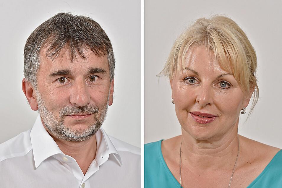 Jens Stoppok (CDU) ist zweiter, Kathrin Fröhlich (Freie Wähler) erste Stellvertreterin der Oberbürgermeisterin in Dippoldiswalde. Die AfD will sie am Mittwoch abwählen lassen.