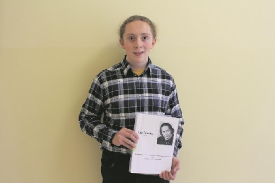 Lucas Rentsch hat für einen Beitrag über Lea Grundig einen Förderpreis beim Geschichtswettbewerb des Bundespräsidenten erhalten.