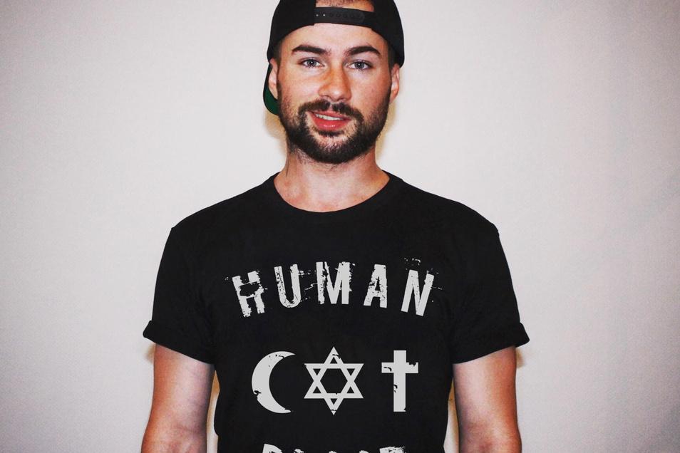 Der Internethändler Benjamin Hartmann, Gründer des inzwischen in London ansässigen Mode-Labels Human Blood.