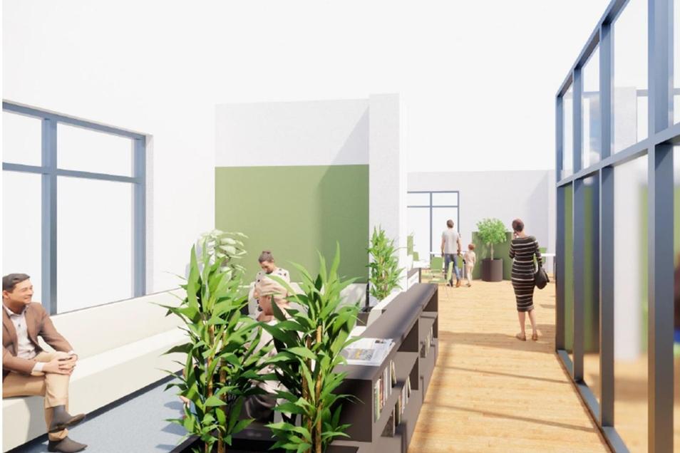 So soll es aussehen, eines der ersten Bürgerbüros, hier in Löbau an der Sachsenstraße.