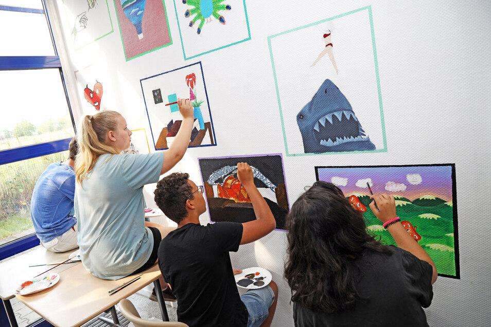 In der Offenen Werkstatt in Riesa wurden jetzt die Wände gestaltet - im Rahmen eines Ferienkurses.