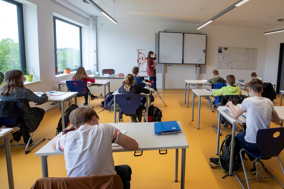 Viel Platz ist nicht nur im Französisch-Unterricht der sechsten Klassen Wilsdruffer Gymnasium.