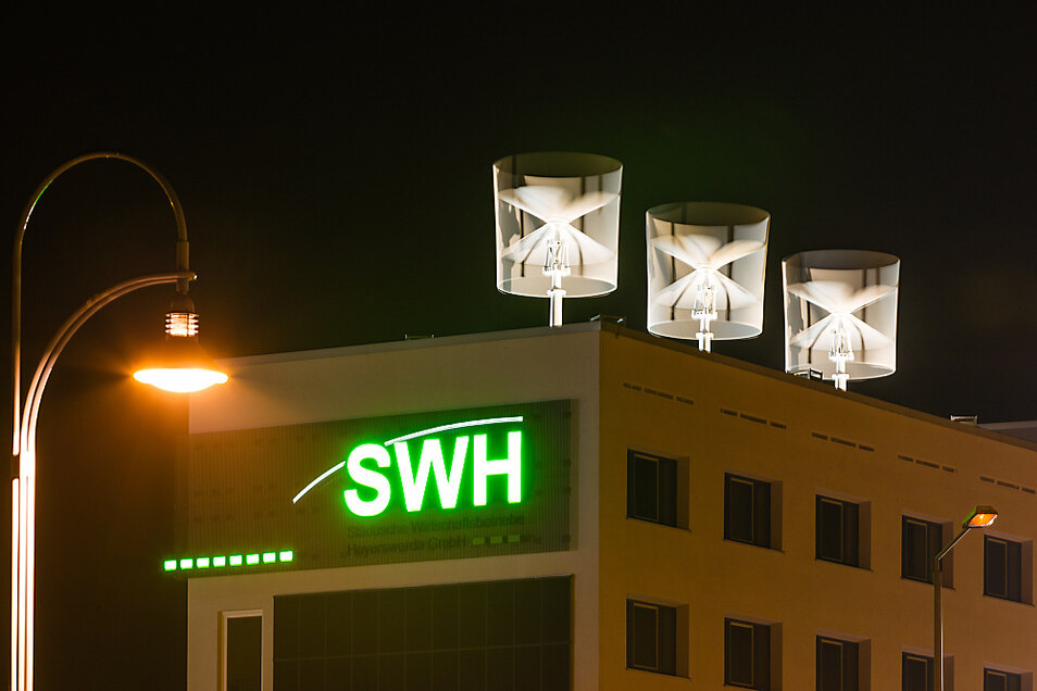 Wenn der Wind pustet, ist das gut für die Stromerzeugung auf dem Dach der SWH-Zentrale. Aktuell gibt's aber auch hier Gegenwind für die Geschäftstätigkeit.