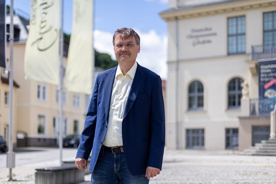 Steffen Barthel wollte gern Bürgermeister in Glashütte werden. Aus gesundheitlichen Gründen hat er seinen Wahlkampf eingestellt.