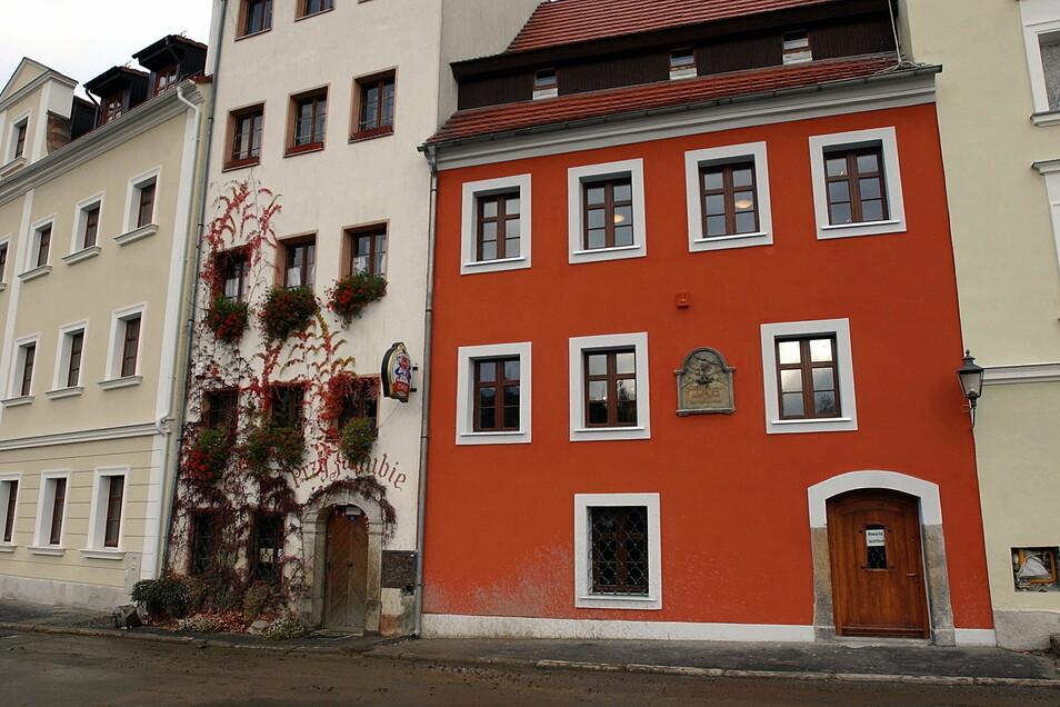 Jacob-Böhme-Haus am polnischen Ufer der Neiße. Hier lebte der berühmteste Sohn der Stadt Görlitz - ein Mystiker, Philosoph und christlicher Theosoph.
