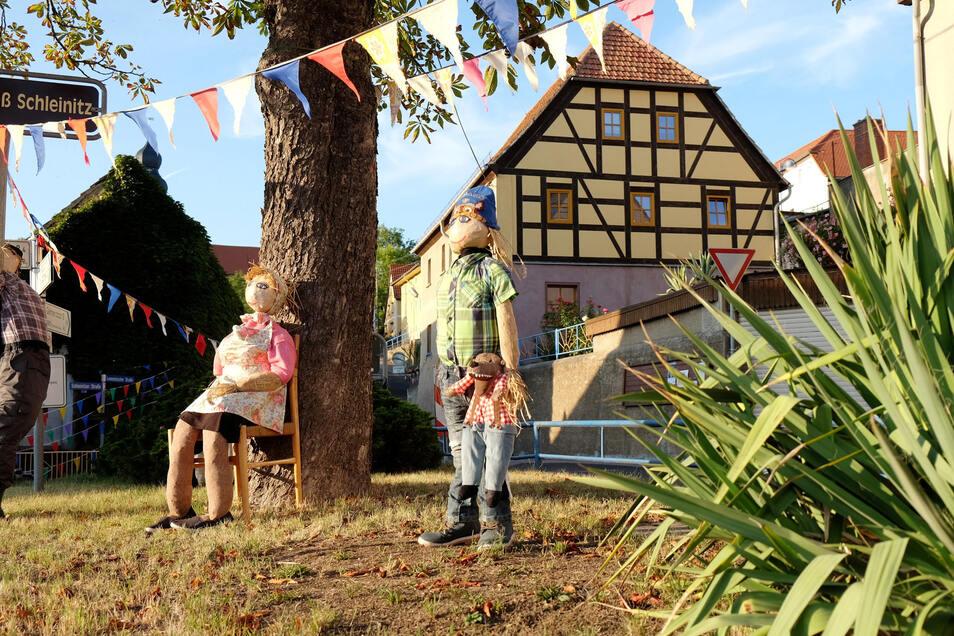Das ganze Dorf ist geschmückt: Leuben feiert sein 950-jähriges Bestehen.