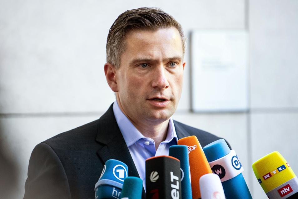 Martin Dulig (SPD), Landesvorsitzender der SPD Sachsen und sächsischer Wirtschaftsminister