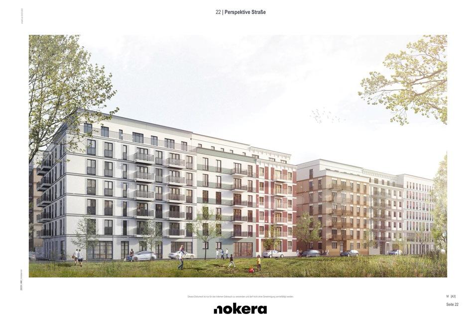 Diese Fassadenentwürfe sind für die Lingnerstadt im Büro entstanden.