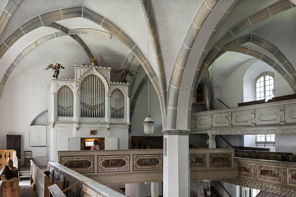 Orgel in der evangelischen Kirche in Reichenbach.