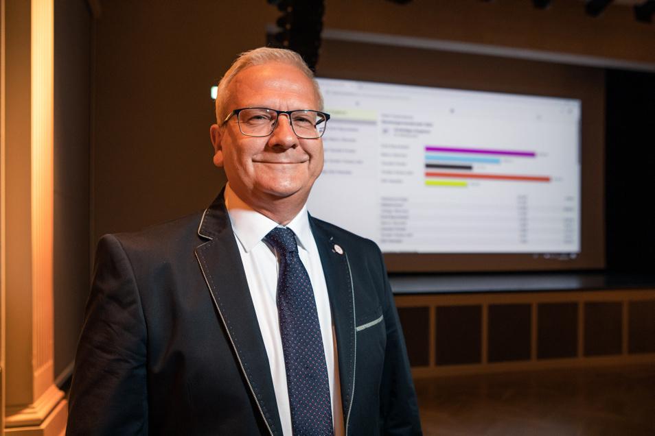 Torsten Ruban-Zeh wird neuer Oberbürgermeister von Hoyerswerda.