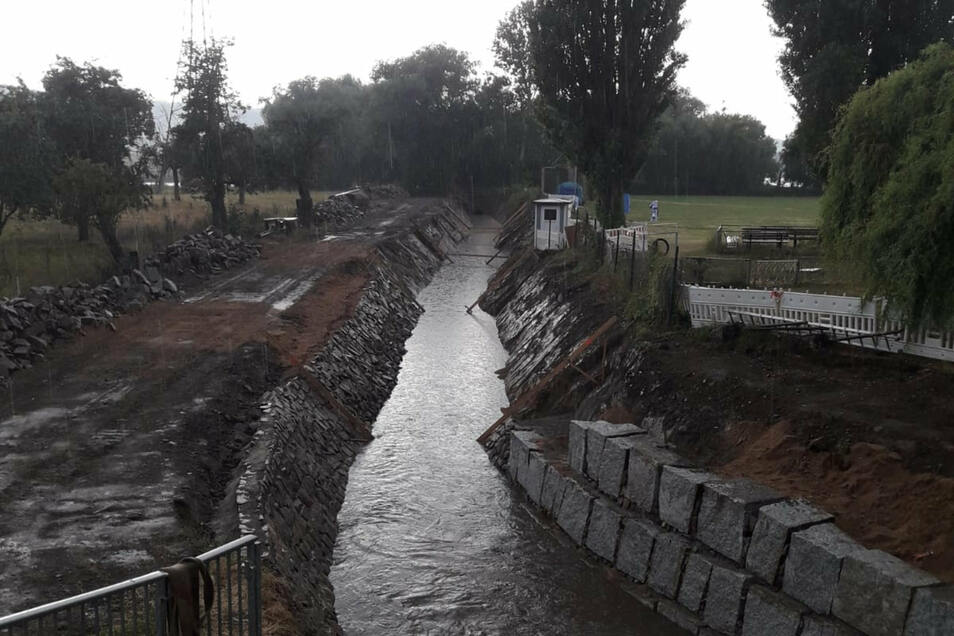 Noch nicht fertig gebaut, aber so voll war der Kanal schon am letzten Wochenende.
