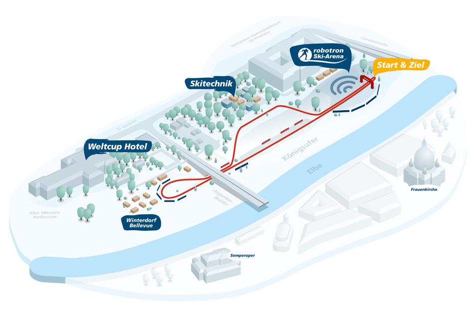 Die Strecke am Elbufer ist mit 800 Metern deutlich kürzer als im vergangenen Jahr, dadurch sehen die Zuschauer die Athleten auch öfter.