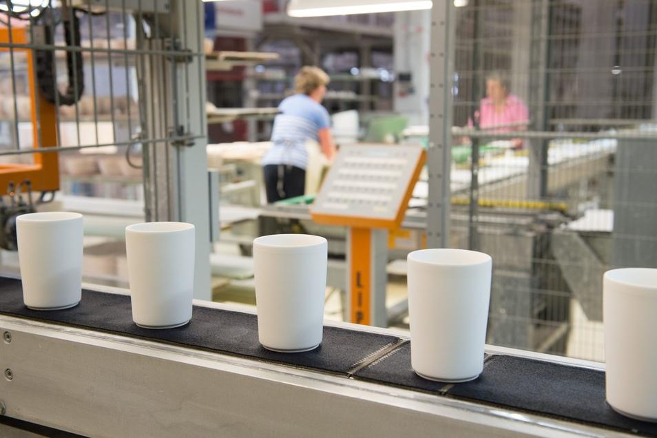 Blick in die Produktion des traditionsreichen Porzellanherstellers Kahla.