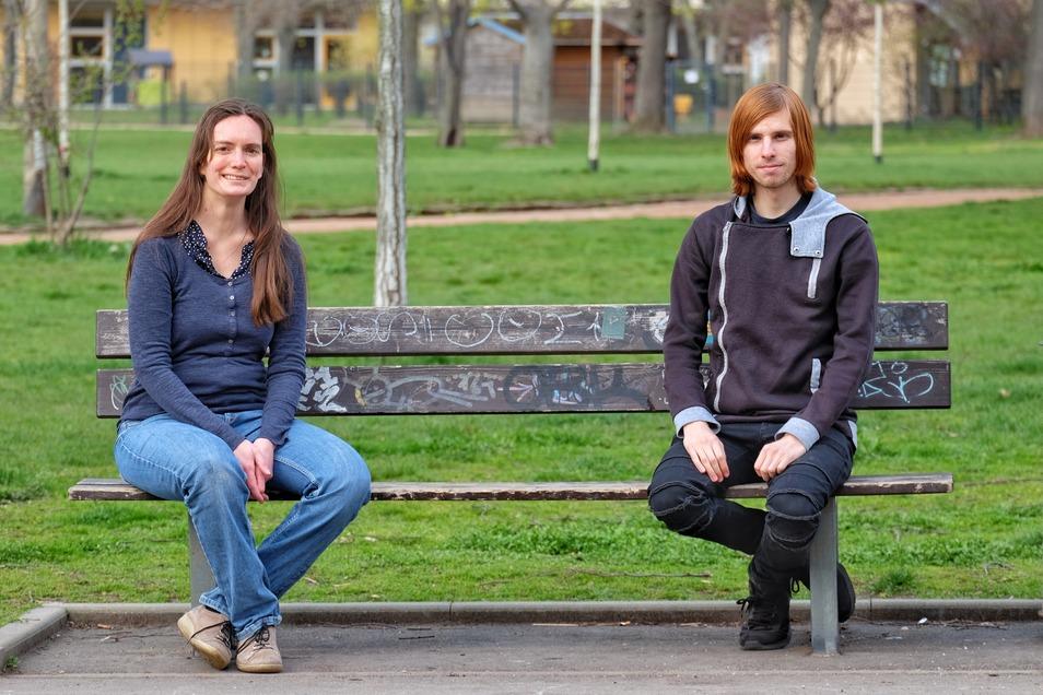 Louise Hummel-Schröter und Kevin Bauch von Fridays for Future erarbeiten mit der Stadt Dresden das neue Klimaschutzkonzept.