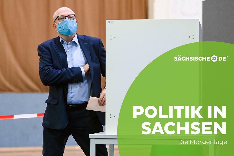 Sven Schulze (SPD), Kandidat für die Chemnitzer Oberbürgermeisterwahl, holte gestern etwas überraschend die meisten Stimmen.