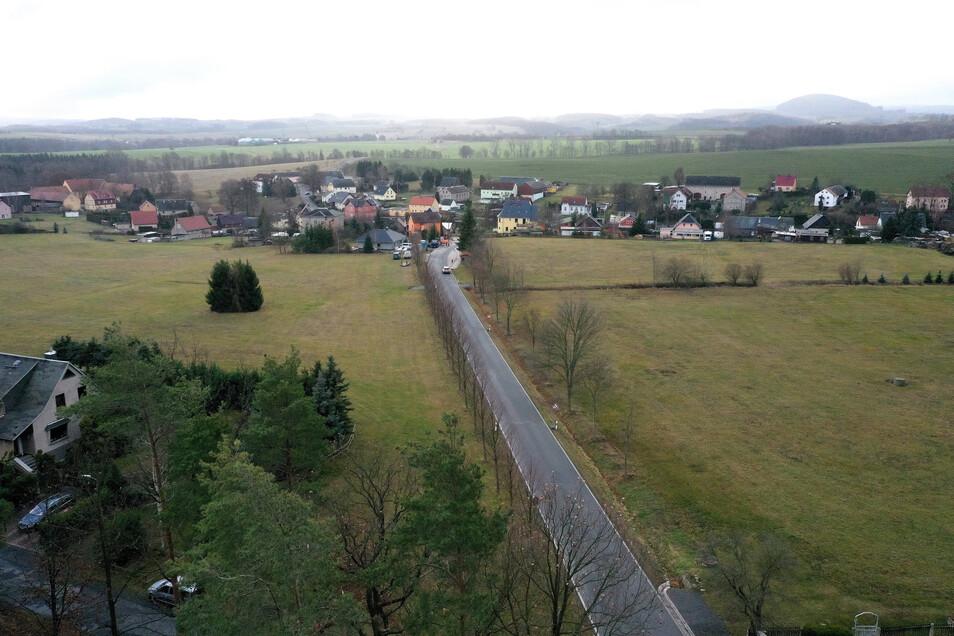 Auf diesen Wiesen in Hirschbach soll ein neues Baugebiet mit bis zu 30 Wohnhäusern entstehen.