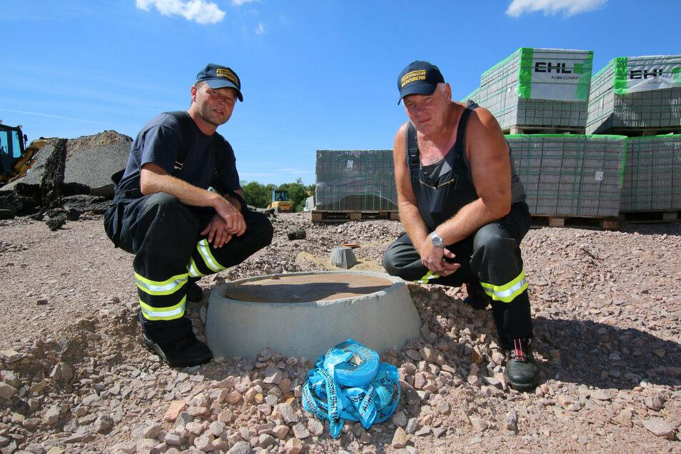 Im Sommer wurde die Zisterne im neuen Meinsberger Wohngebiet Sonnenhufe II gebaut. Eine solche soll nun auch in Massanei errichtet werden.