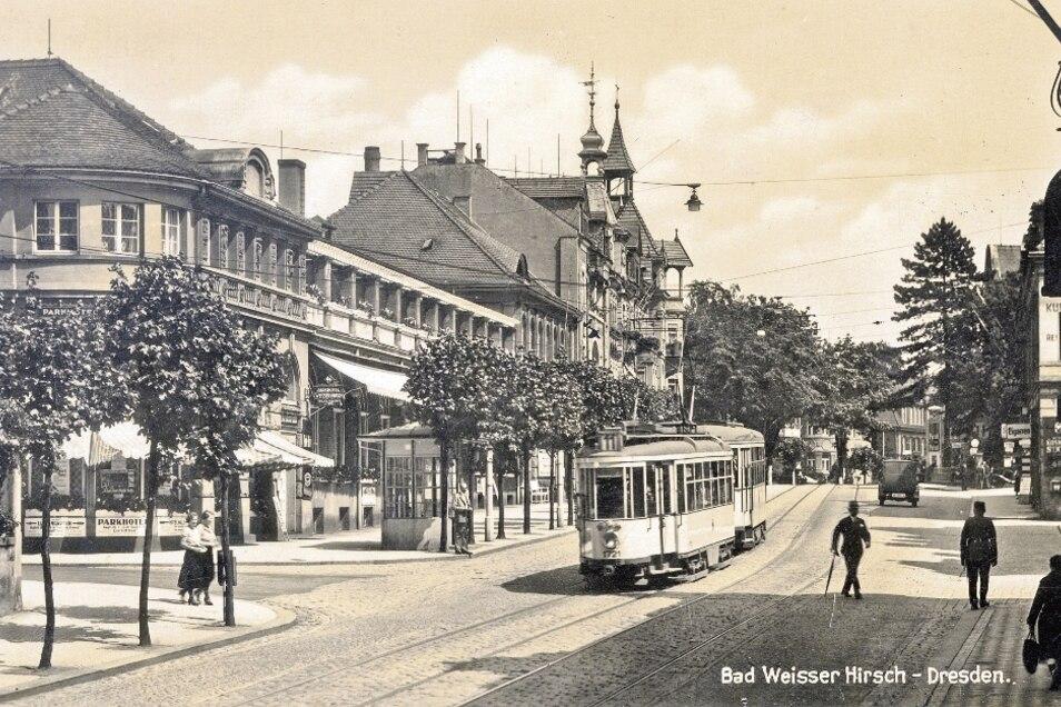 Wandlungsfähig und aufsehenerregend: Hechtwagen um 1932 am Weißen Hirsch.