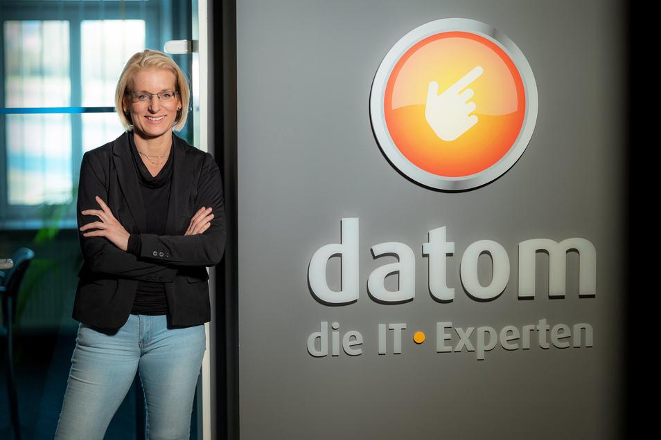 Jana Brochlitz sorgt als Chefin beim IT-Dienstleister Datom für Wohlfühlatmospäre.