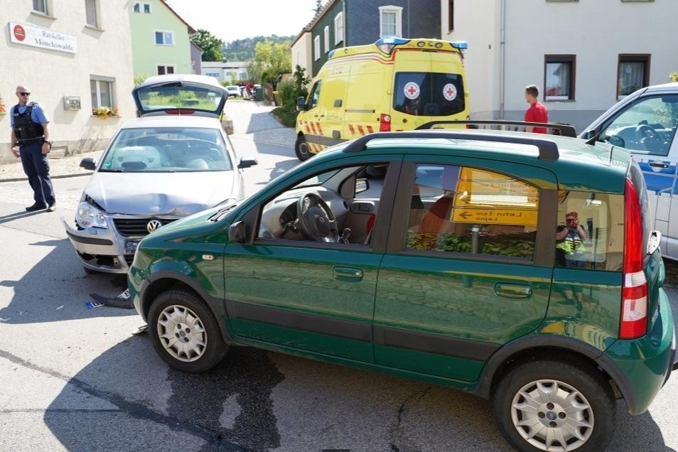 In Obergurig stießen am Dienstagnachmittag ein VW Polo und ein Fiat zusammen.