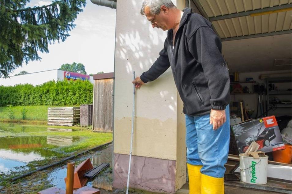 Unwetterfolgen im Kamenzer Land: Am Sonntagmorgen offenbarte sich das Ausmaß der Schäden.