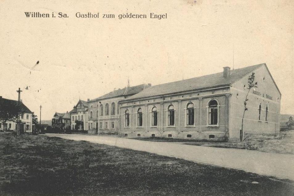 Das Ursprungsgebäude des Gasthofes Zum Goldenen Engel wurde zu Beginn des 18. Jahrhunderts errichtet.