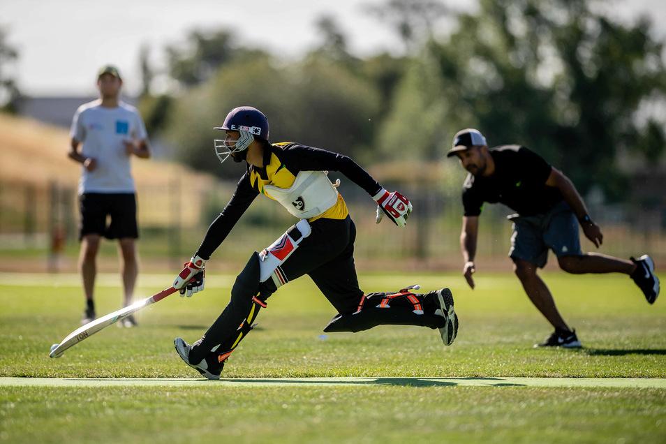 Das Team vom Verein Rugby Cricket Dresden belegt beim Turnier den dritten Platz.