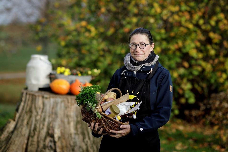 Anne Ritter-Hahn gründete die erste Marktschwärmerei in der Lausitz. Mehr als 800 Mitglieder kaufen dabei Produkte heimischer Erzeuger.