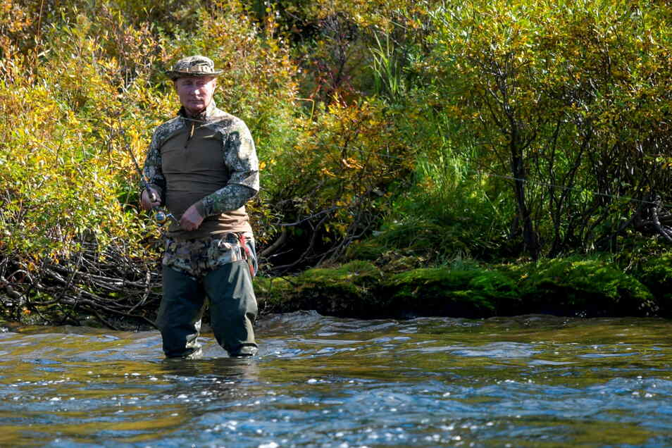Putin im Fluss.