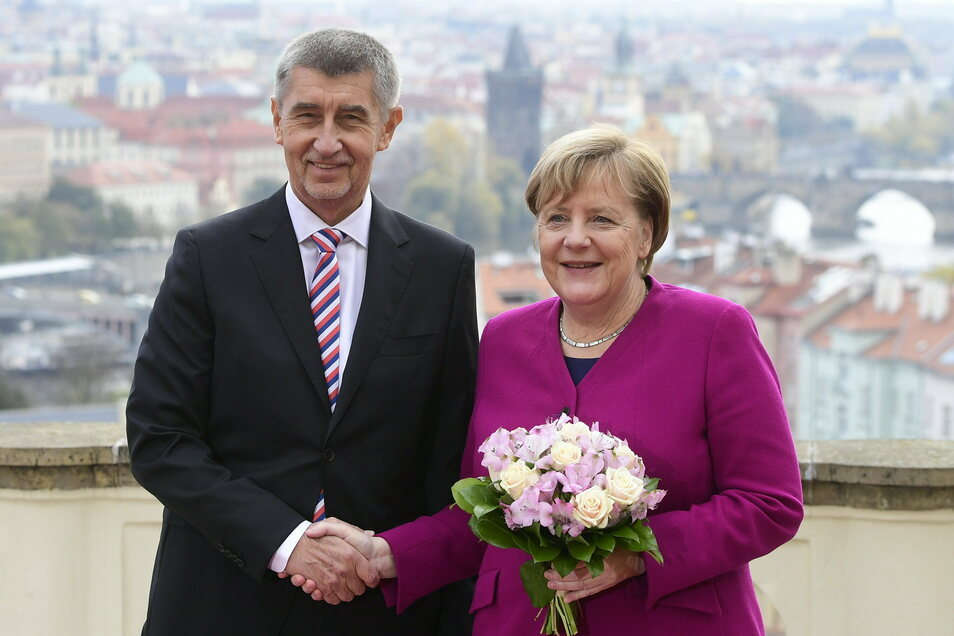 2018 reiste Bundeskanzlerin Angela Merkel anlässlich der Gründung der Tschechoslowakei vor 100 Jahren nach Tschechien und traf unter anderen Ministerpräsident Andrej Babis.