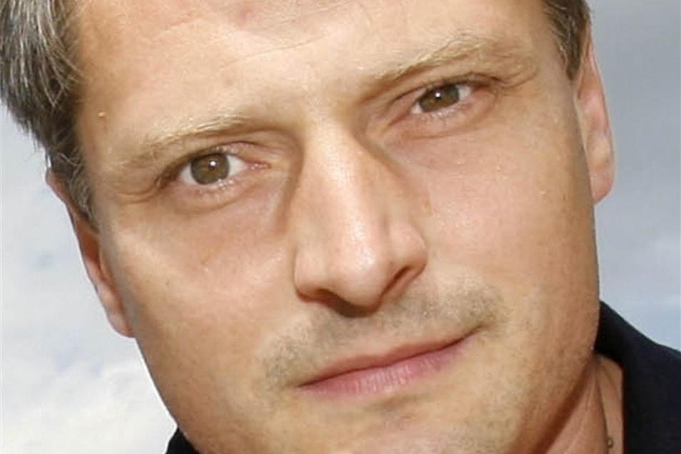 Mike Borowsky vom Dresdner Schaustellerverband gehört zu den Organisatoren des Lorenzmarkts in Lorenzkirch.