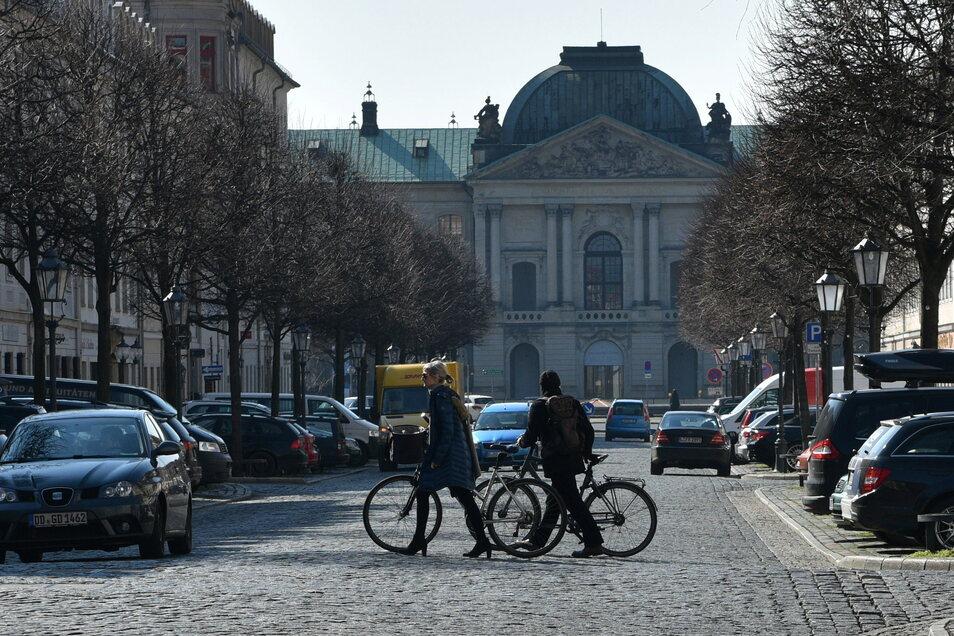 Die Königstraße im Barockviertel