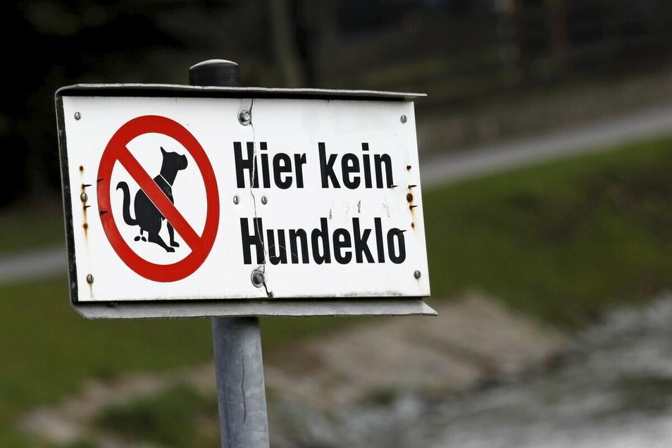 Mit solchen Schildern werden Hundehalter freundlich, aber bestimmt darauf hingewiesen, dass Hundehaufen hier nicht gern gesehen sind.