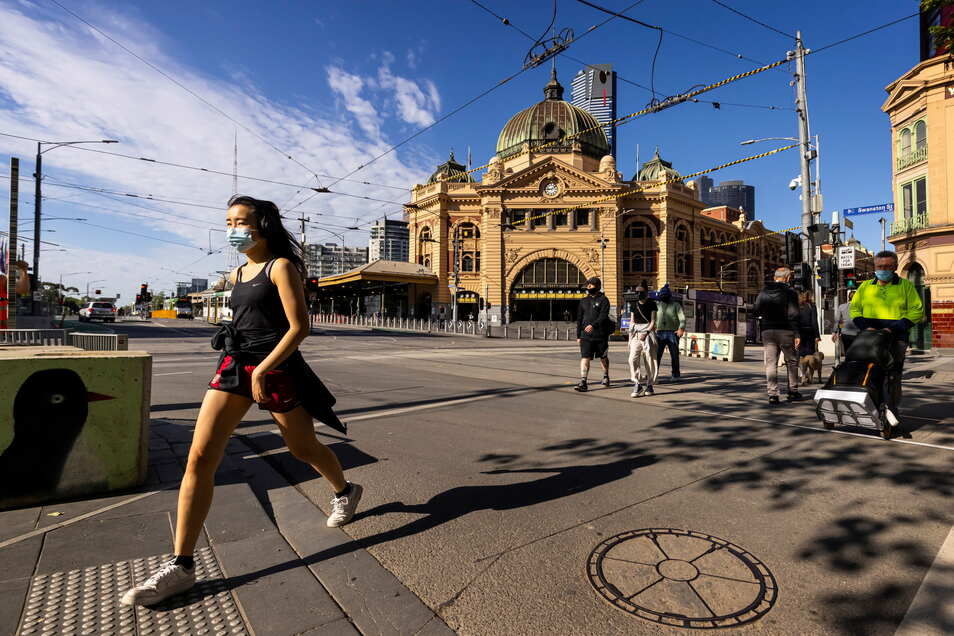 Australien, Melbourne: Australien plant sehr strenge Auflagen für Menschen ohne Corona-Impfpass.