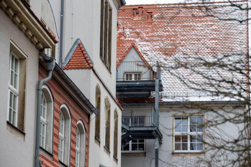 Über diese Treppe sind die Einbrecher 2020 ins Heimatmuseum ins Museum gelangt.