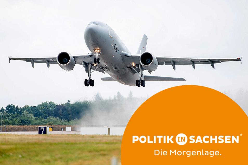 Mit mehreren Flugzeugen bringt die Luftwaffe derzeit Bundesbürger und afghanische Helfer der Bundeswehr nach Deutschland. Einige der Afghanen kommen auch nach Sachsen.