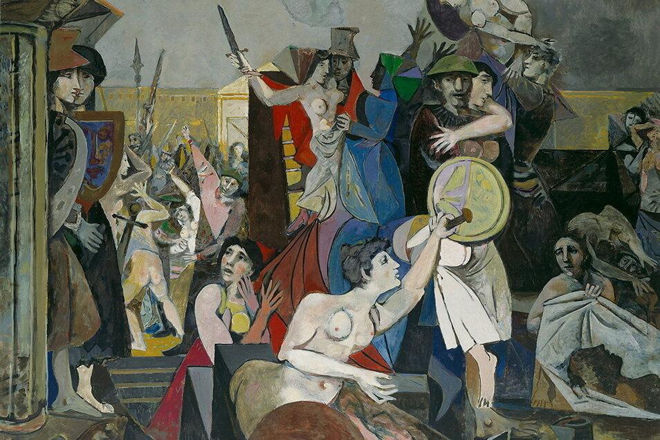 """Hätten Sie es als ein Gemälde von Willi Sitte erkannt? Den """"Raub der Sabinerinnen"""" malte er 1953. . Anders"""