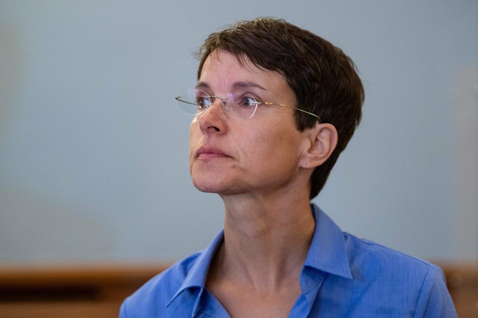 Frauke Petry im Landgericht Leipzig: Der Prozess zieht sich weiter hin.