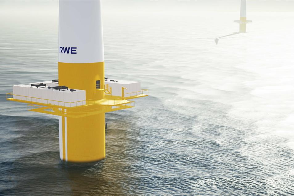 Ein Offshore-Windrad in der Nordsee. Zur Produktion von grünem Wasserstoff auf hoher See planen die Insel Helgoland und ein Firmenkonsortium in der Nordsee bis 2035 zehn Gigawatt Offshore-Windanlagen.
